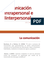 Comunicación Intrapersonal e Interpersnal