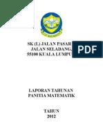 Laporan Tahunan Panitia Matematik 2012