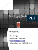 Resin Grouted Rock Bolts