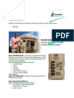 Bamburi Cement Guide