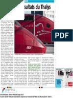 NG - Les mauvais résultats du Thalys - 26.02.15