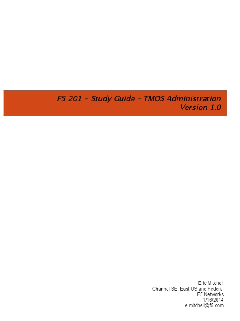 F5 201 - Study Guide - TMOS Administration | Transport Layer