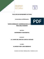 Enfermeria Fundamental Datos Normales y Anormales En la valoración del paciente