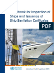 Handbook for Inspection of Ships and Issuance of Ship Sanitation Certificate