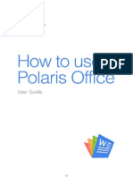 How to use Polaris Office.odt