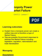 unit 5 2 - lesson 7 - monopoly power market failure