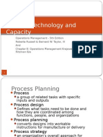 Chapter 6 Process Technology and Capacity