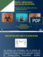 POSIBLES AMENAZAS BIOLÓGICAS EN EVENTOS