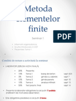 Metoda Elementelor Finite - Introducere