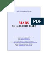 Alain - 1936 Mars Ou Guerre Jugee
