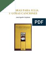 Palabras Para Julia y otras canciones - José Agustín Goytisolo