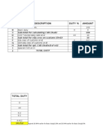 Custom Duty Calculator -Last Year