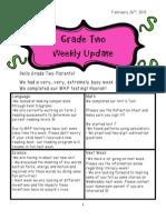 weekly update- february 26th