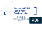lesson plan 2 sine rule and cosine rule