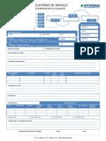modelo de relatório de serviço