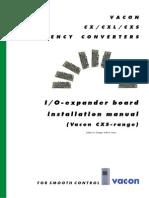 Vacon CXS IO Boards Installation Manual Ud244C En