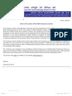 PR - Order in the matter of M/s GBC Enterprise Limited