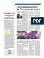 Pumping Up Capacity for Busy Summer Season - Gulf Times 26 Feb 2015