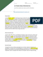 greek theatre history worksheet key