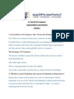 ECOM101 Assignment No.1 1