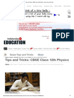 Tips and Tricks_ CBSE Class 12th Physics _ Exam Tips and Tricks
