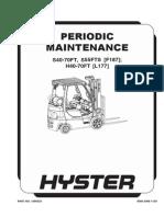 Manutencao Hyster H40 70FT, Maintenance Hyster H40 70FT