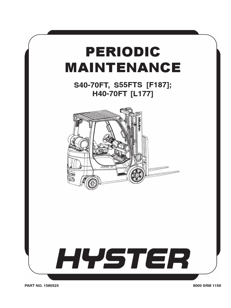 Manutencao Hyster H40 70FT, Maintenance Hyster H40 70FT | Internal  Combustion Engine | Truck