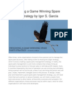 Designing a Game Winning Spare Parts Strategy by Igor S
