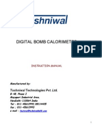 Digital Bomb Calorimeter Manual