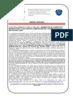 """CONCURSO ABIERTO """"SUMINISTRO DE ALIMENTOS Y BEBIDAS PARA LA SECCIÓN DE ALIMENTACIÓN DEL CUERPO DE POLICIA DEL ESTADO LARA"""""""