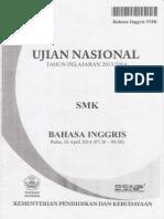 Soal Ujian Nasional SMK 2013-2014 Bahasa Inggris