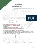 Eq Parametrica della retta