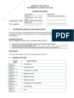 Legal Writing - Course Syllabus (1E S.Y. 2014-2015) (PDF)