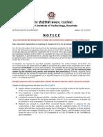 Registration Notice 2015spring