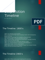 stop motion timeline