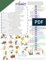 Past Simple Crossword Simpsons (irregular verbs)