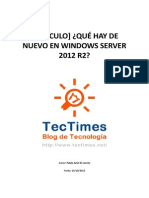 TT Articulo Windows Server Que Hay de Nuevo en Windows Server 2012 R2