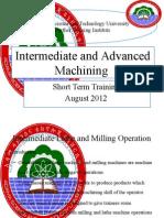 Intermediate and Advanced Machining