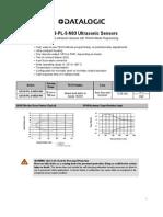 US18-PL Ultrasonicsensors Manual RevA Eng