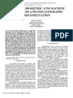 Advanced Biometric Atm Machine