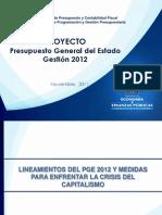 Presupuesto General Del Estado 2012