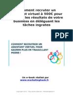 Comment avoir les services d'un assistant virtuel à 500 euros pour booster votre business