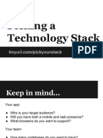 Picking a Technology Stack