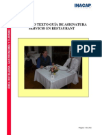 Dossier Servicio en Restaurant Inacap