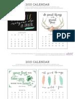 Enchanted Prints 2015 Calendar - Motivational