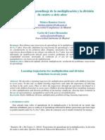 Trayectorias de aprendizaje de la multiplicación y la división de cuatro a siete años
