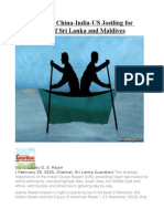 Indian Ocean China-India-US Jostling for Power; Cases of Sri Lanka and Maldives