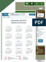 Calendario Dias Feriados Republica Dominicana 2015