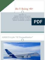 Presentación Airbus380 y Boeing 787
