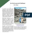 Sri Lanka's Environmental Challenges